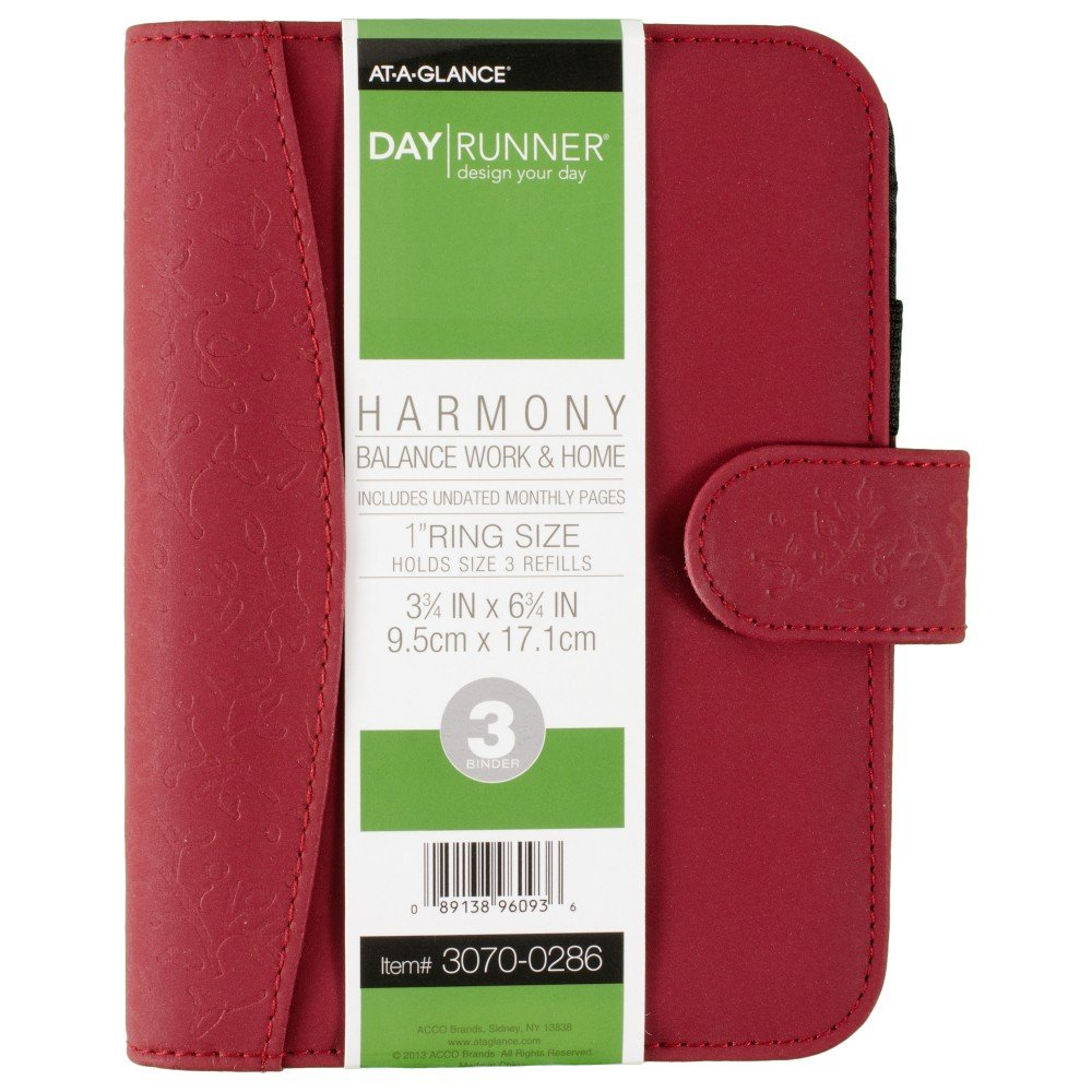 photo regarding Day Runner Binder named Working day Runner Balance Organizer, Retains Refills 3-3/4 x 6-3/4 Inches, Diverse Shades - Coloration May perhaps Selection (3070-0286)