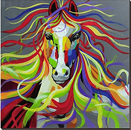 Amazon Com 100 Hand Painted Horse Oil Painting On Canvas Colorful