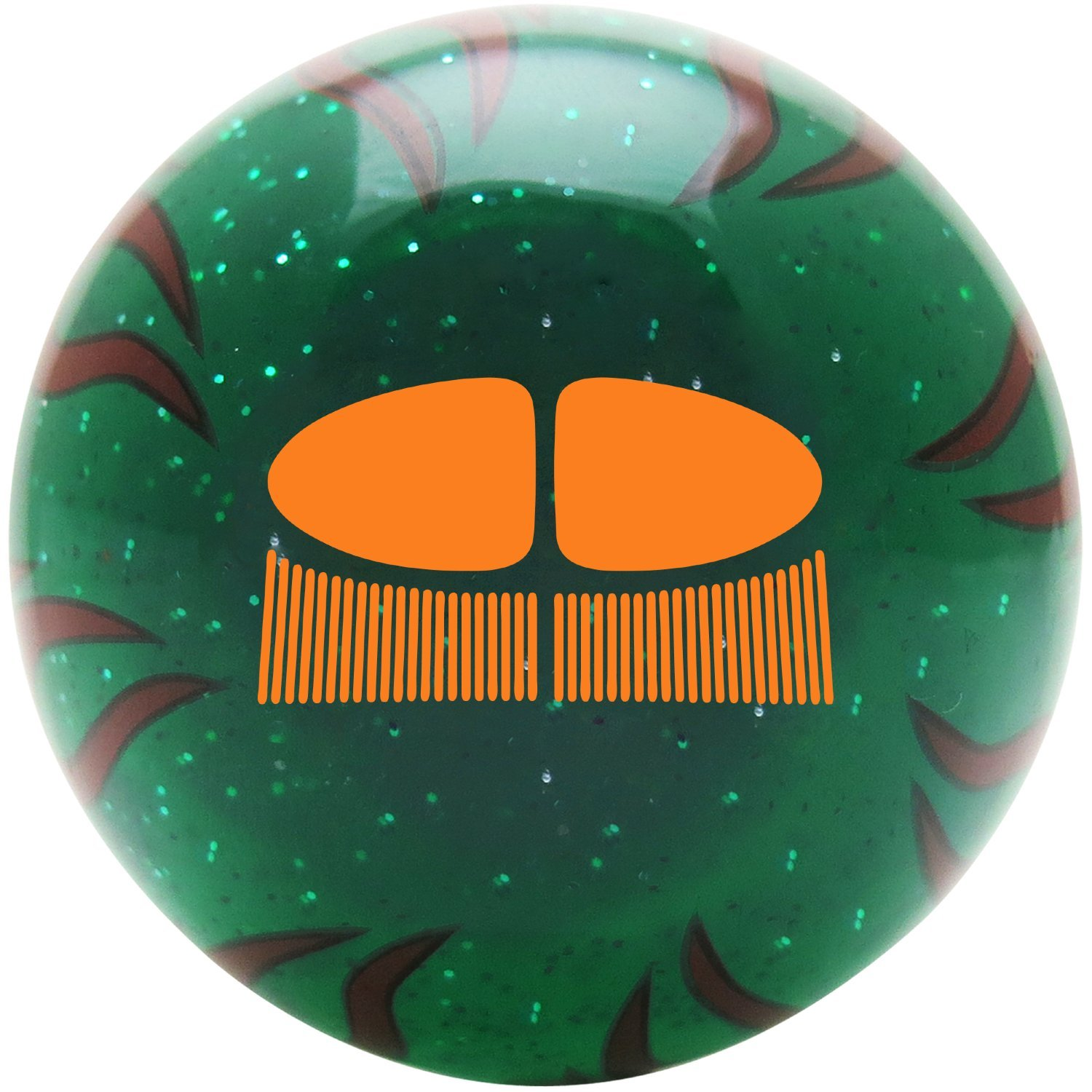 American Shifter 28669 Green Flame Metal Flake Shift Knob Orange VW Split Bug