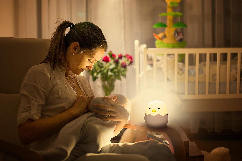 Luz Nocturna Infantil LED Pollito Polluelo Lámpara de Noche Quitamiedos para Niños: Amazon.es: Iluminación