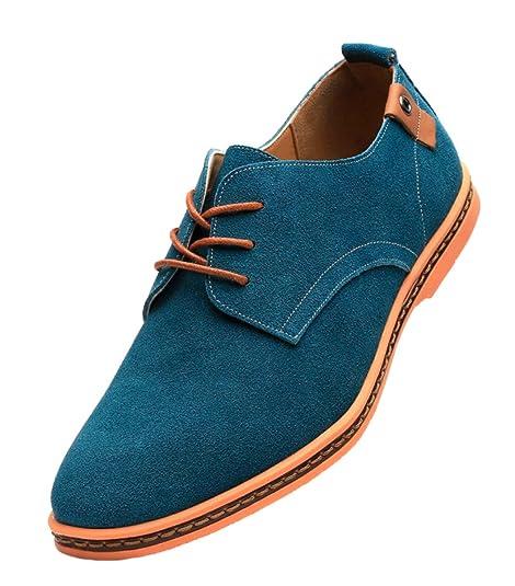 DADAWEN 10007 - Zapatos de Cordones de Piel Para Hombre, Color Multicolor, Talla 43