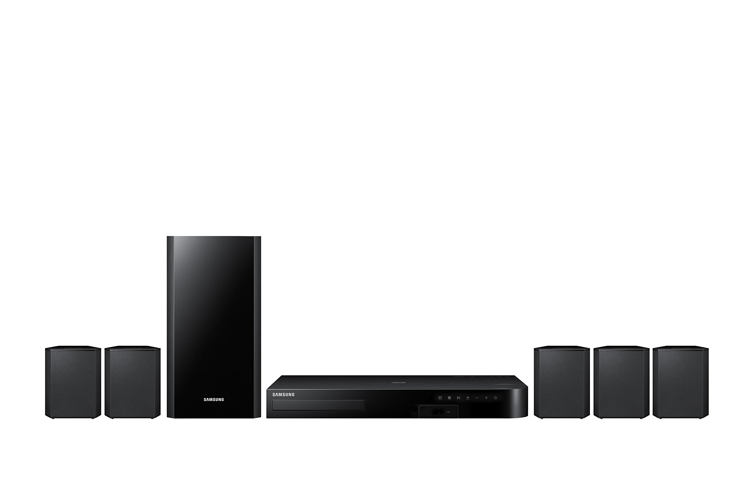 Samsung HT-J4500 5.1 Channel 500 Watt 3D Blu-Ray Home Theater System (2015 Model) by Samsung