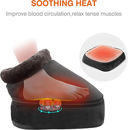Snailax 2-in-1 Shiatsu Foot and Back Massager