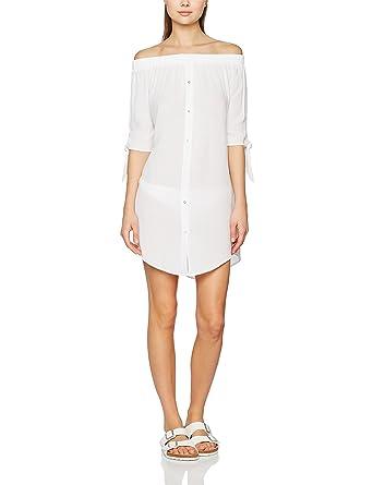 2c80843dc81a6 New Look Women's Bardot Beach Shirt Cover-up: Amazon.co.uk: Clothing