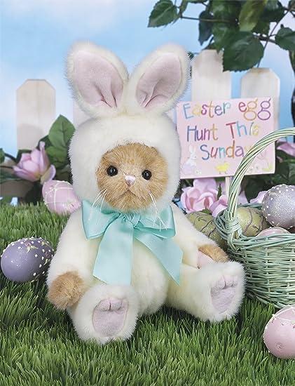 6599c85c77b Amazon.com  Bearington Collection Beary Harey Dressed As the Easter Bunny  Teddy Bear Stuffed Animal Toy