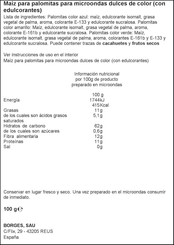 Popitas - Palomitas Dulces De Colores Para Microondas. Bolsa 100 g ...