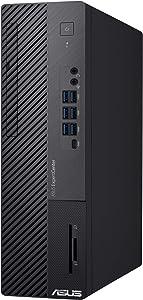 ASUS ExpertCenter D700SA, Small Form Factor Desktop PC, Intel Core i5-10400, 8GB DDR4 RAM, 512GB PCIe SSD, TPM 2.0, 3 Year Onsite Service, Wi-Fi 6, Windows 10 Professional, Black, D700SA-XB501