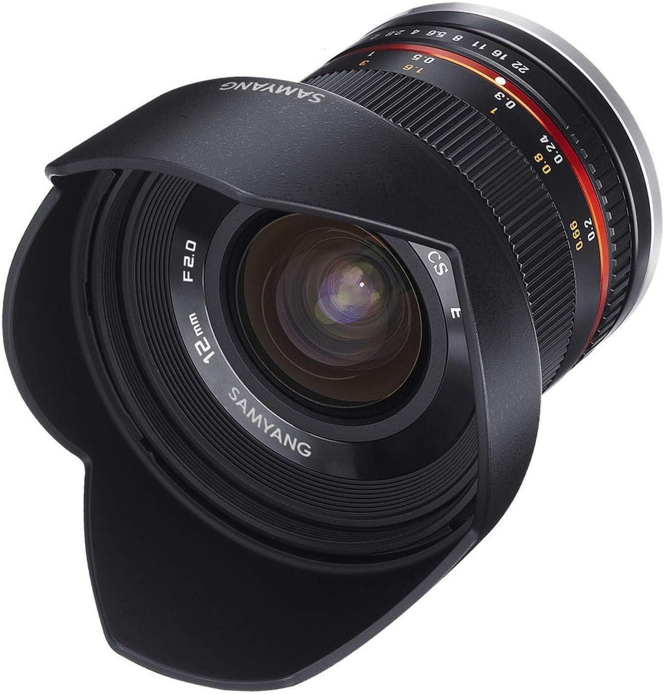 Samyang 12mm F2 0 Aps C Canon M Schwarz Aps C Kamera