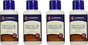 Guardsman Protect & Preserve For Leather 8.4 oz - Repels Stains, Retains Color and Softness, Great for Leather Furniture & Car Interiors - 471000, Pack 4