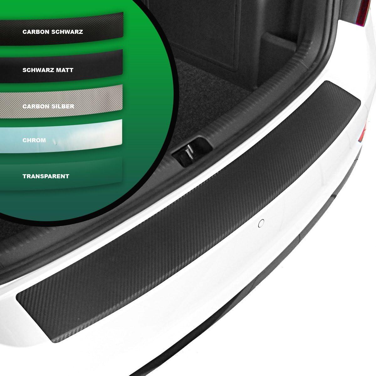 Tuneon Ladekantenschutz Für Kona Carbon Schwarz Silber Chrom Transparent Wählbar Carbon Schwarz Auto