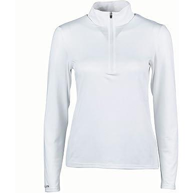 0fcd22a641c123 Dublin Tina Ladies Long Sleeve Show Shirt - White: Amazon.co.uk ...