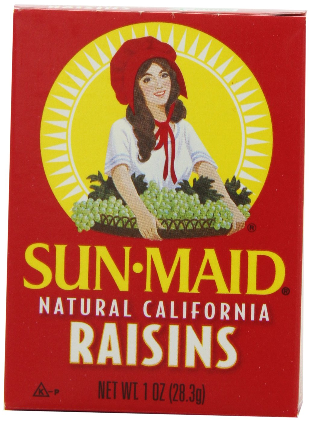 Sun Maid Natural California Raisins, 6-Count (Pack of 4)