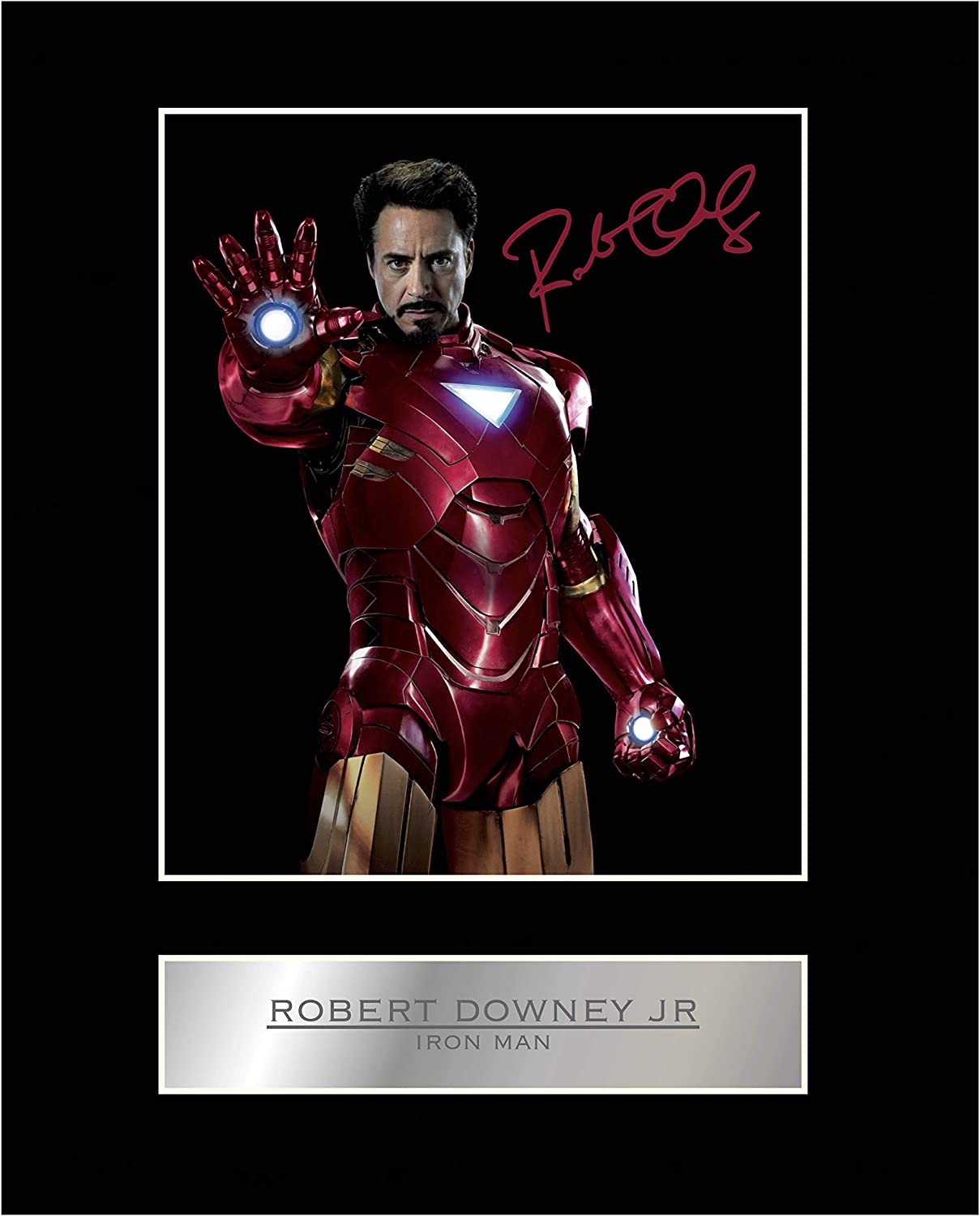 iconic pics Robert Downey Jr Signed Mounted Photo Display Iron Man