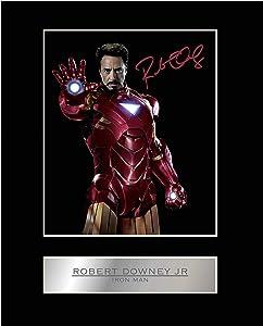 iconic pics Robert Downey Jr Signed Mounted Photo Display Iron Man