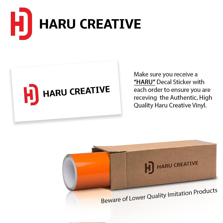 "Haru Creative Gloss Matte Orange Chevy Emblem Overlay Sticker Kit 2 Large Rolls 7.5/""X11.5/"""