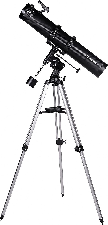 Bresser Galaxia 114/900 EQ-Sky Telescopio Newton Diseño de carbono con Adaptador de Cámara de Smartphone: Amazon.es: Electrónica