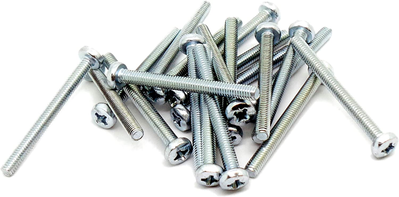 25 M6 x 30MM Long Pozi Pan Head Machine Screws Pack