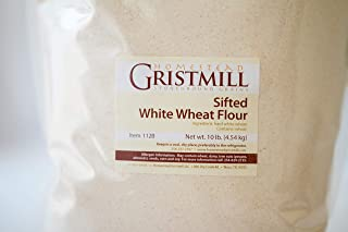 product image for Homestead Gristmill — Non-GMO, Chemical-Free, All-Natural, Stone-ground Sifted White Wheat Flour (10 lb), Artisanally Milled from Hard White Wheat Berries