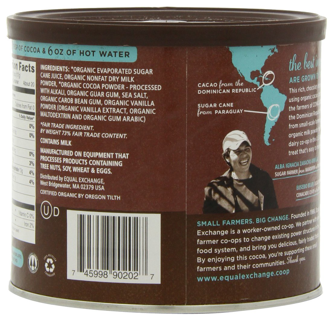 Amazon.com : Equal Exchange Organic Hot Cocoa Mix, 12-Ounce Tins ...