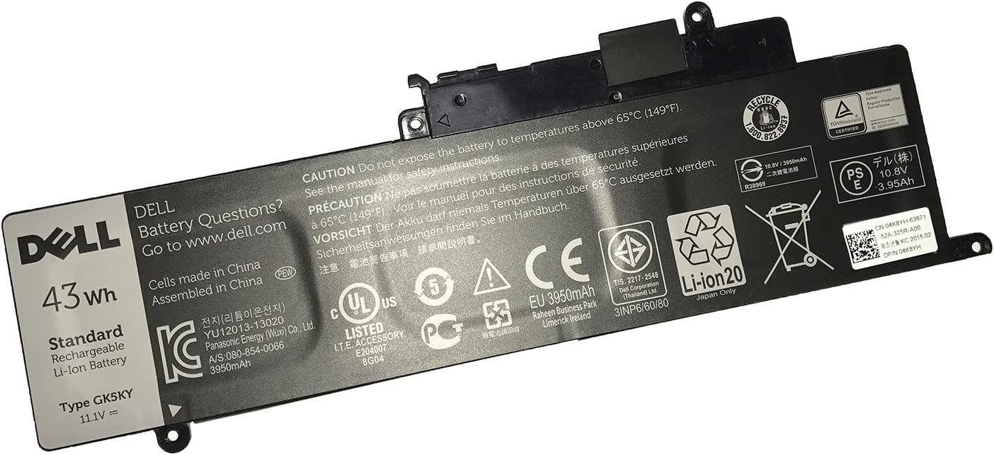 SANISI DELL GK5KY 11.1V 43WH Battery for Dell Inspiron 11 (3147 3148 3157 3158),13 (7347 7348 7352 7353 7359),15 (7348 7558 7568) Series Notebook