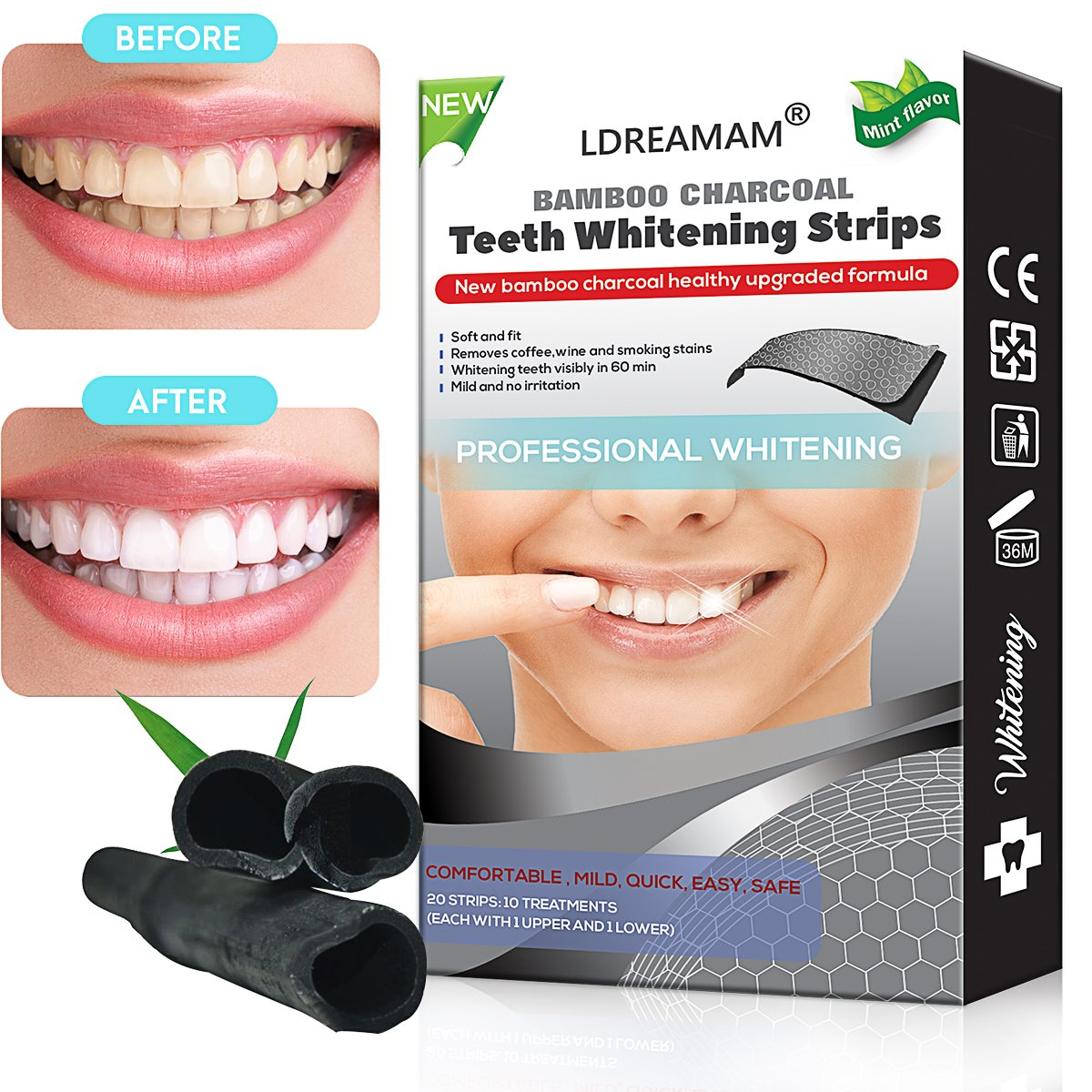 Teeth Whitening Strips Advanced Double Elastic Gel Strips Kit best teeth whitening 2020