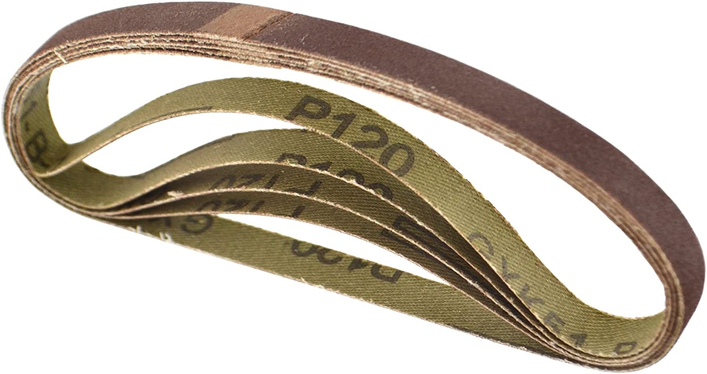 Belt Power Finger File Sander Abrasive Sanding Belts 400mm x 60mm 120 Grit 20 PK