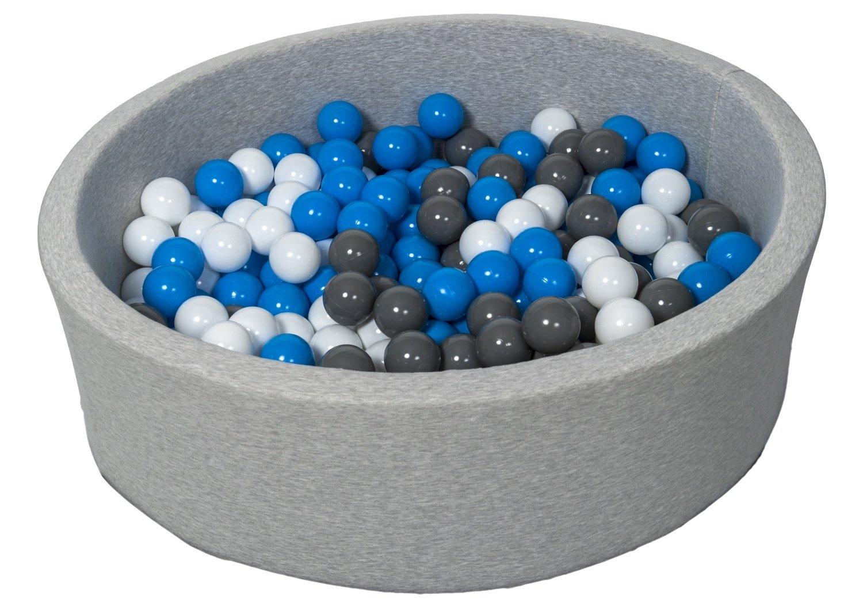 Velinda Bä llebad Ballpool Kugelbad Bä llchenbad Bä llchenpool Kinder Pool mit 300 Bä llen (Farbe der Bä lle: weiß )