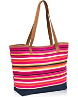 Thirty One Lakeside Tote in Pinstripe Punch - No Monogram - 8681