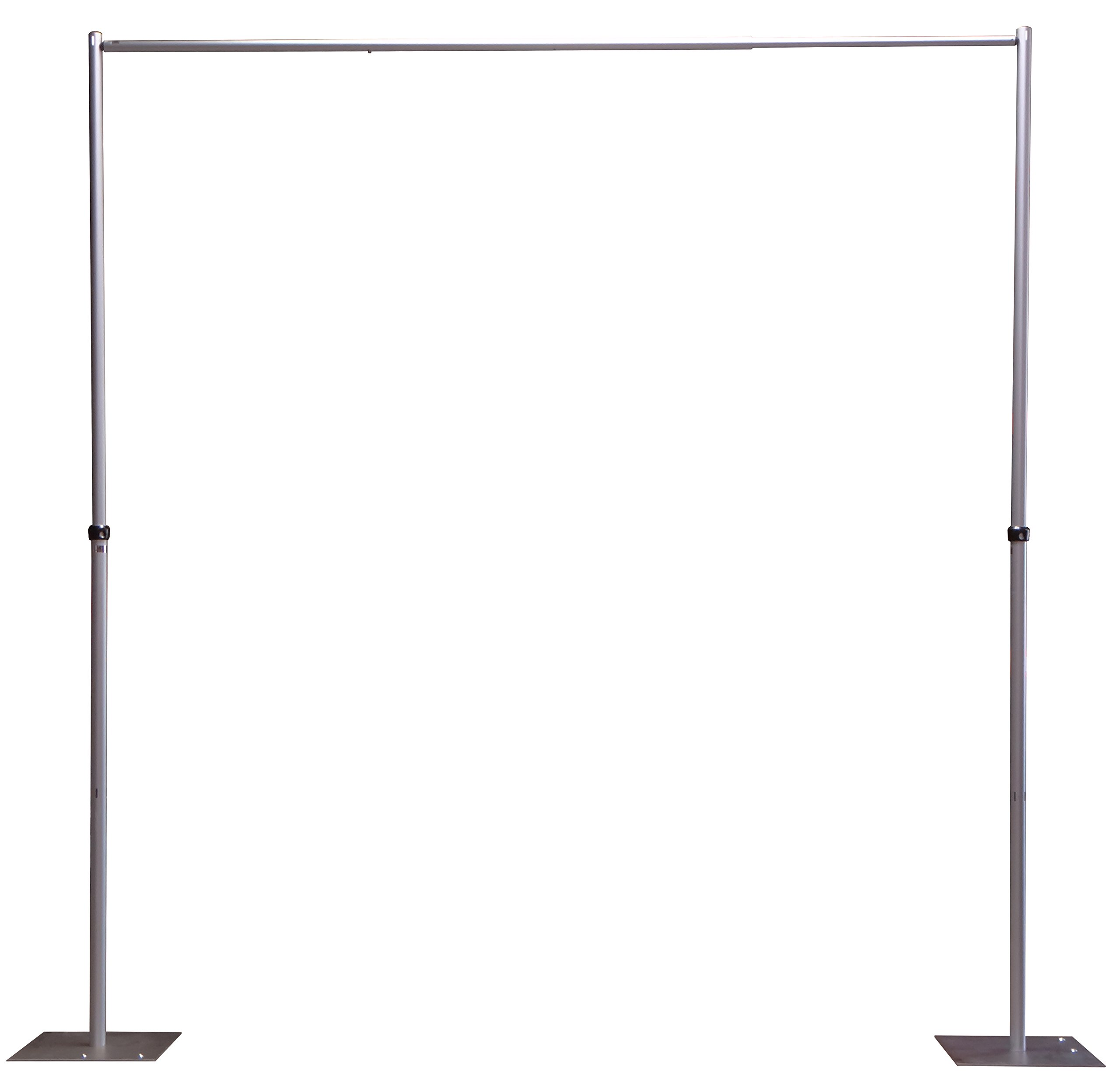 OnlineEEI, Adjustable Height Pipe and Drape Backdrop or Room Divider Kit, 7ft to 12ft High x 7ft to 12ft Wide, Premier Drape Not Included by OnlineEEI