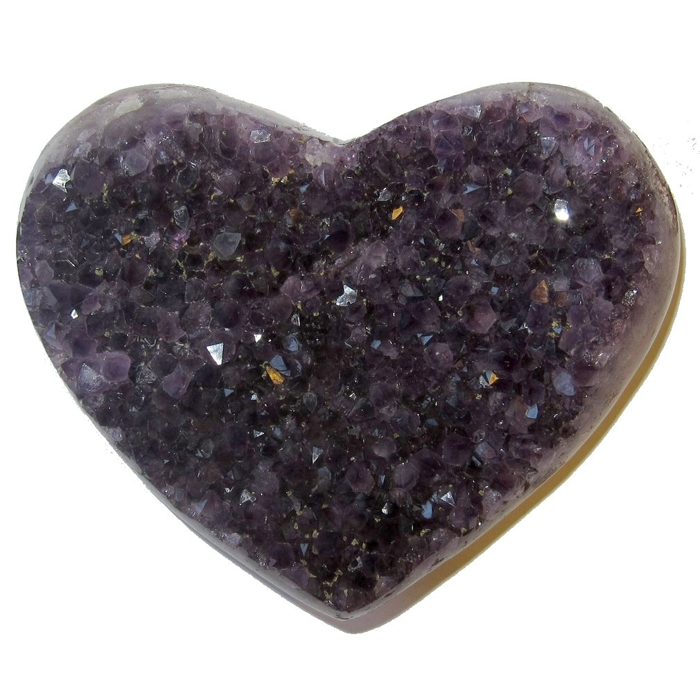 Amethyst Heart 51 Purple Crystal Deep Love Soul Mate Stone Healing Energy Gift 4.6''