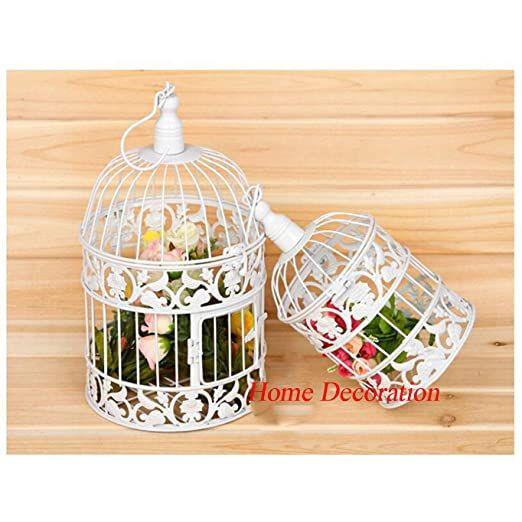 jaula Decoración pájaros de Hierro Forjado de Estilo Antiguo ...