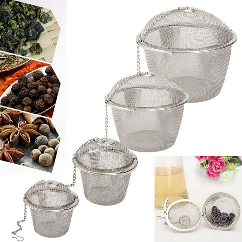 Lautechco Stainless Steel Tea Strainer Infuser Tea Locking Ball Tea Spice Mesh Herbal Ball Cooking Tools (4.5cm) Lautechco®
