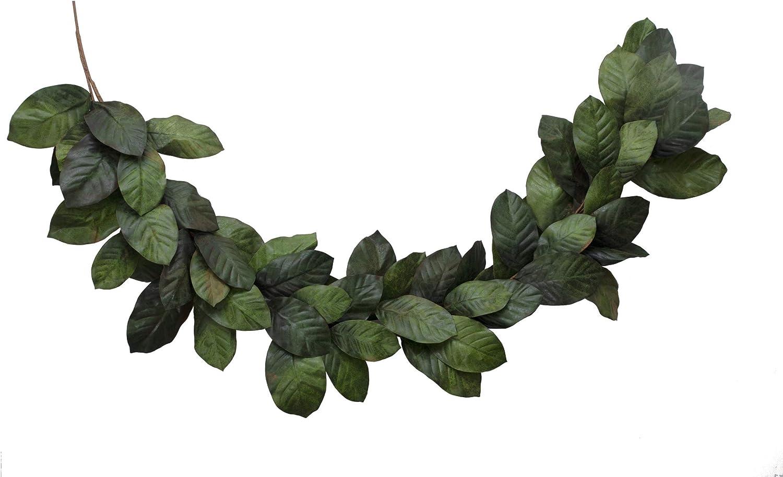 Amazon Com Vita Domi 6 Foot Artificial Magnolia Leaf Garland 2 Tone Green Vtd Abf Nf2002 Home Kitchen