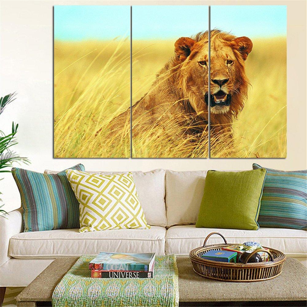 Amazon.com: No Frame Animal Painting Lion King Posters Wall Art and ...