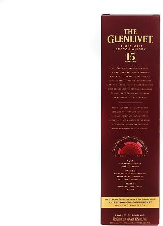 The Glenlivet 15 años Whisky Escocés de Malta Premium - 700 ml