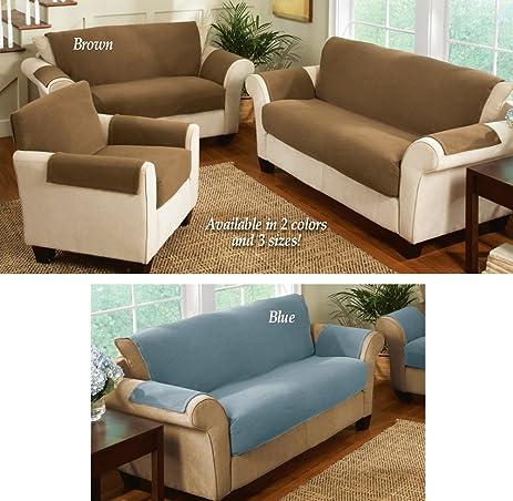 Amazoncom Fleece Living Room Furniture Covers Brown Chair