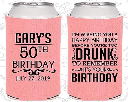 Tarro de cumpleaños personalizado para 50 cumpleaños, para ...