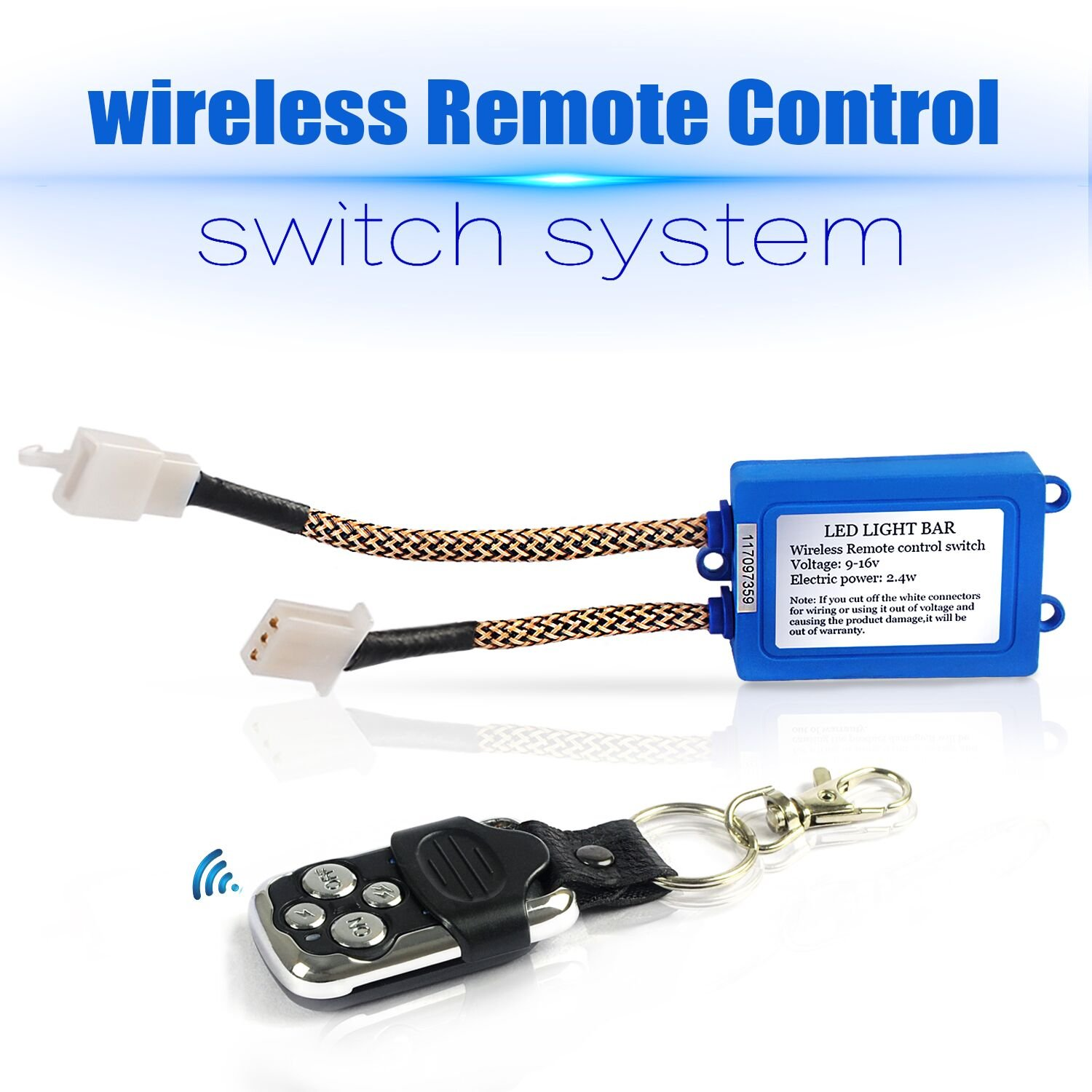 Jhe Led Light Bar Remote Control Switchrelay Wiring Power Cord 3 Wire Diagram As Well Transmitter Harness Switchwireless On Off Strobe Flash Pulse For