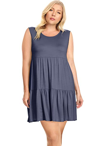 Womens Plus Size Tiered T Shirt Dresses Plus Size Sundress Made In