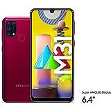 Samsung Galaxy M31 Dual SIM, 128GB, 6GB RAM, 4G LTE, UAE Version - Red - 1 year local brand warranty