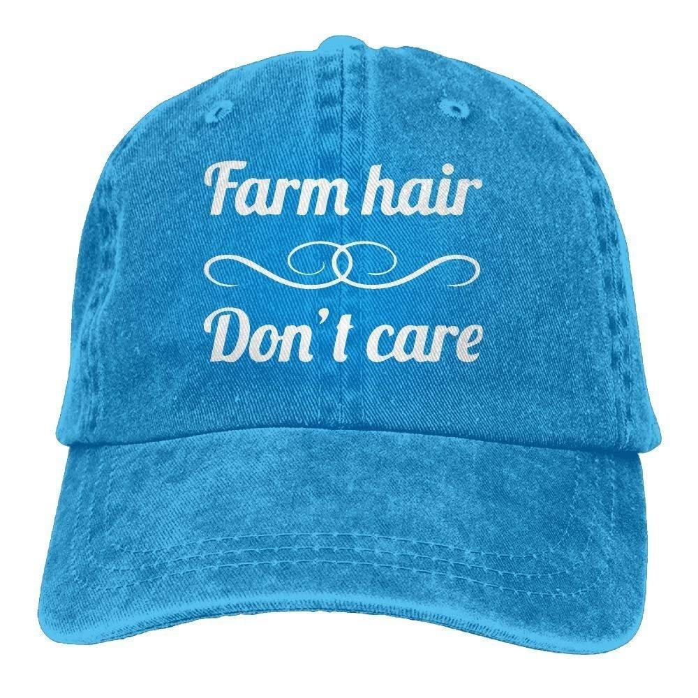 large-scale Sports Denim Cap Farm Hair Don't Care Women Snapback Caps Polo Style Low Profile