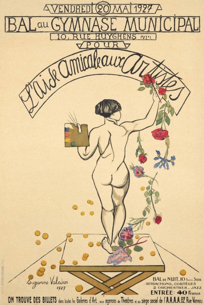 L 'aide Amicale Aux Artistesヴィンテージポスター(アーティスト: Valadon )フランスC。1927 36 x 54 Giclee Print LANT-74224-36x54 36 x 54 Giclee Print  B01MQ08AZB