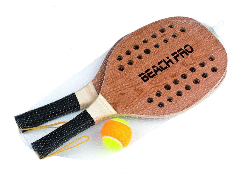 Perfect Alternative To Smashball /& Beach Tennis one size fit all Speedminton Beach Paddle Speedminton Light Wooden Beach Paddle 2 Player Set Incl blue 2 Balls /& 1 Original Fun Speeder Birdie