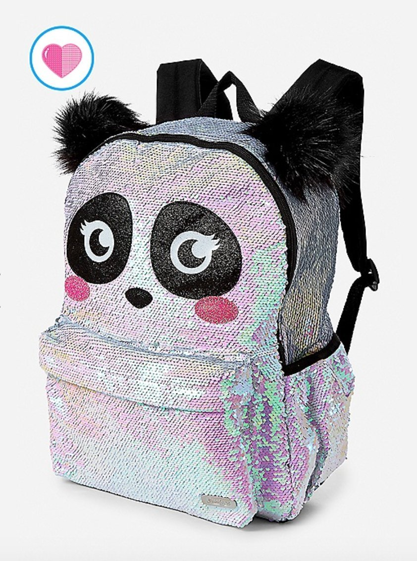 1ae3a137b9 Justice Sparkle Panda Flip Sequin School Backpack best ...