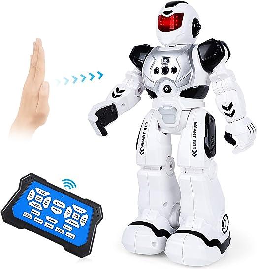 Amazon.es: Auney Robot de Control Remoto para niños, Inteligente RC Robot Juguete Gestos Control Robots (Negro)