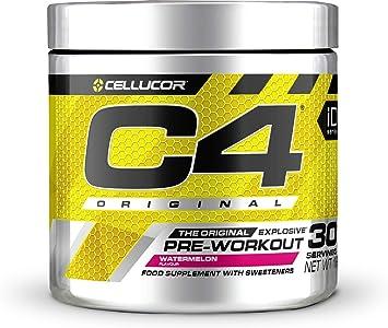 C4 Original - Suplemento en polvo para preentrenamiento - Sandía | Bebida energética para antes de entrenar | 150 mg de cafeína + beta alanina + ...