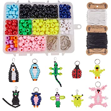 Amazon.com: SUNNYCLUE 1 caja DIY 10 piezas Bead Pets Kit ...