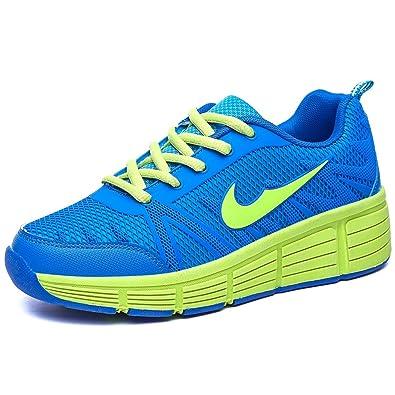 Zapatillas con ruedas automáticas para niños - Azul / verde - Talla 30: Amazon.es: Zapatos y complementos