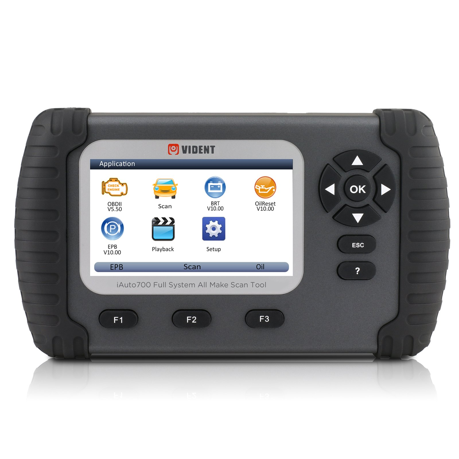 AUTOOL iLink700 4.3'' LCD Professional Full System Automotive Diagnostic Tool Oil Reset EPB ABS SAS Airbag Reset DPF Regeneration Battery Configuration OBDII 12V Code Reader Scanner