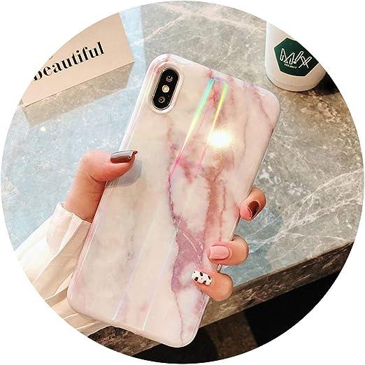 Luxueuse coque de téléphone avec support en marbre pour iPhone 7 8 ...
